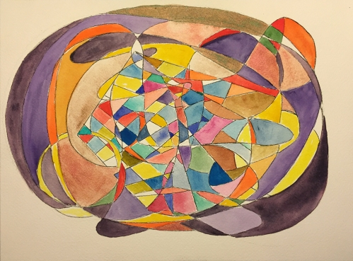 Watercolor: Abstract - Tangle of Curves