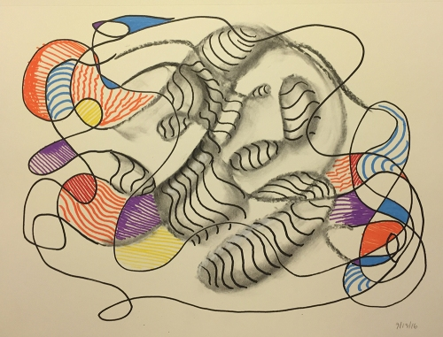 Watercolor, Pen & Ink, Charcoal: Abstract Free Form