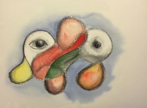 Watercolor and Charcoal: Free Form 3 Dimension
