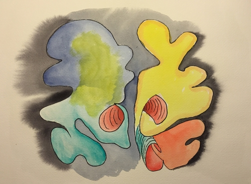 Watercolor: Free Form Based on Coronal Brain Section