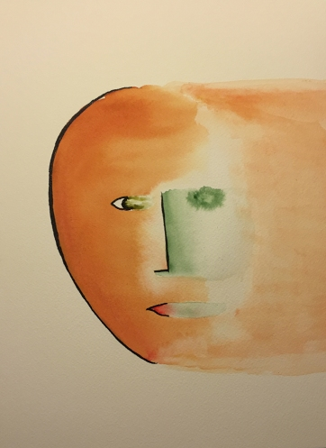 Watercolor Pen and Ink: Face Edge and Dispersal