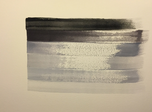 Watercolor: Gray Stripes