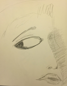 Sketch: Mike's Eye at 10 Years of Age