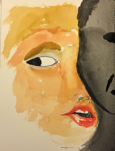 Watercolor: Mike's Eye at 10 Years of Age