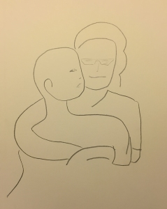 Sketch: Mike and Mom Abstract 2