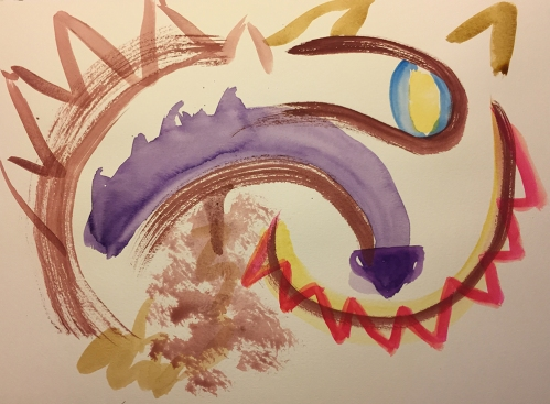 Watercolor: Abstract - Cheshire Cate