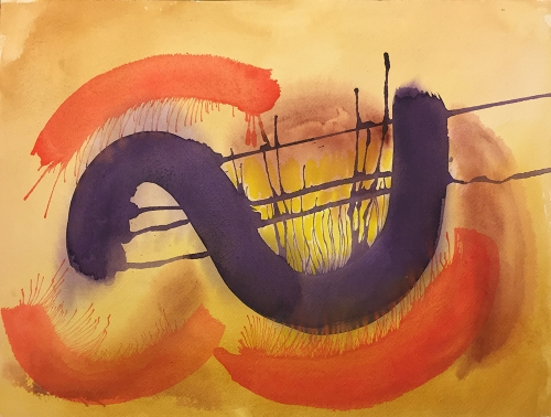 Watercolor: Abstract - Caldron