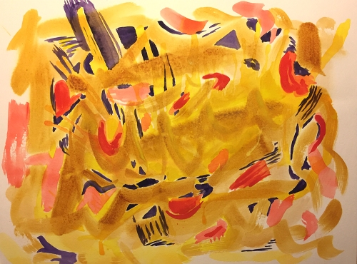 Watercolor: Abstract - Yellow Fantasy