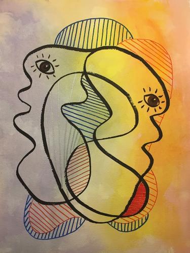 Watercolor: Abstract 101516 - Janus