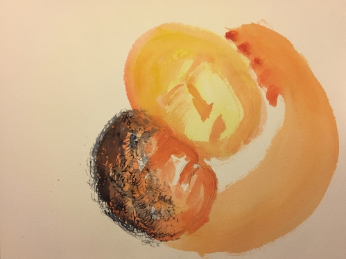 Watercolor: Abstract Expression - Mother and Child
