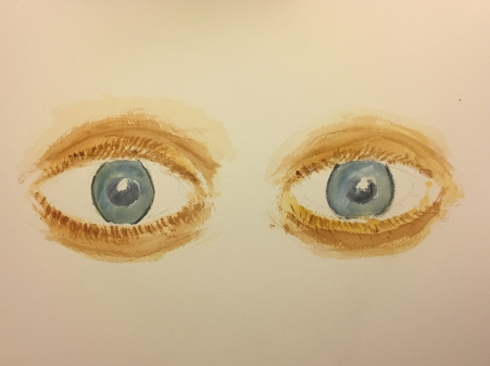 Watercolor: Eyes Staring into the Distance