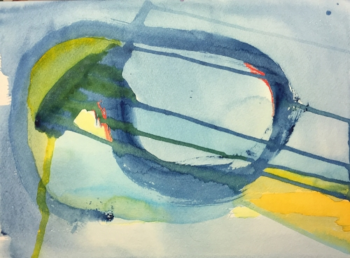 Watercolor: Abstract - Blue Lire