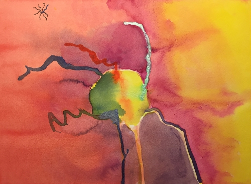 Watercolor: Abstract - When Robots Attack