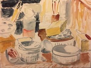 Watercolor: Abstract - Studio Desk