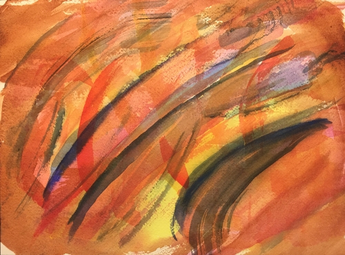 Watercolor: Abstract - Red