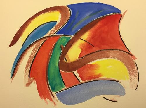 Watercolor: Abstract 112716 Broken Curves