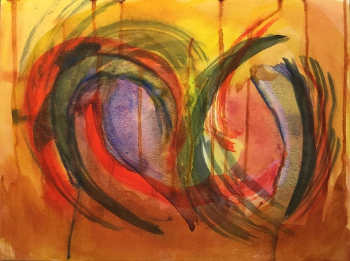 Watercolor: Abstract - Broken Heart