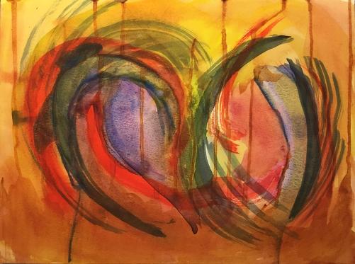 Watercolor: Abstract - Broken Heart