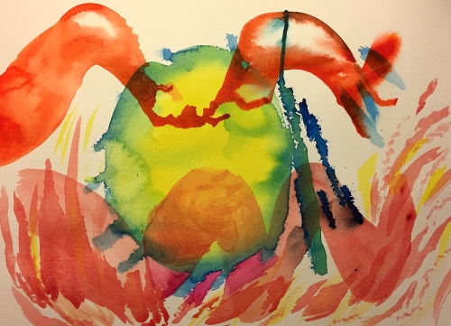 Watercolor: Abstract - The Meaning of Life?