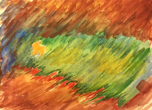 Watercolor: Abstract - Earthy Tree