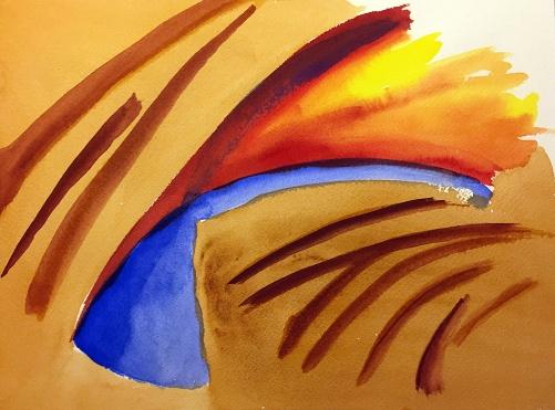 Watercolor: Abstract - Wall Shadows