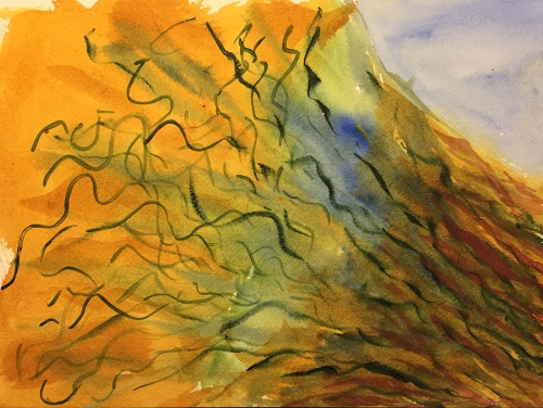 Watercolor: Abstract - Uprooted Tree