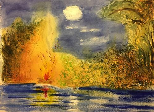 Watercolor: Final Stage Watercolor Landscape