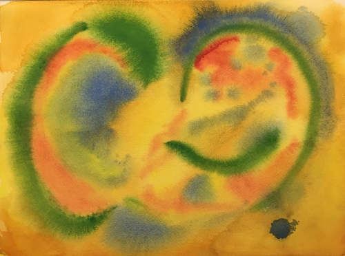 Watercolor: Abstract - Vegetable and Fruit