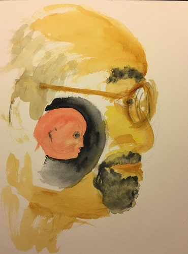 Watercolor: Abstract - Image Shifting Child? Adult?