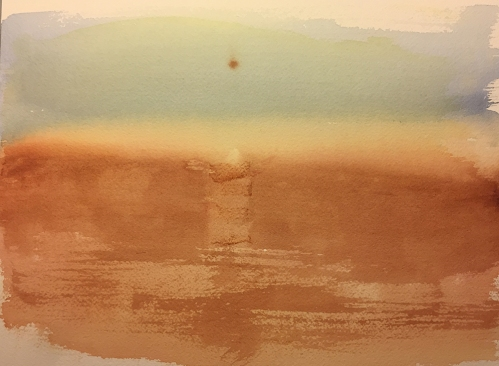 Watercolor: Mars Scape