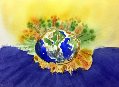 Watercolor: Abstract Expression - Trees around the World