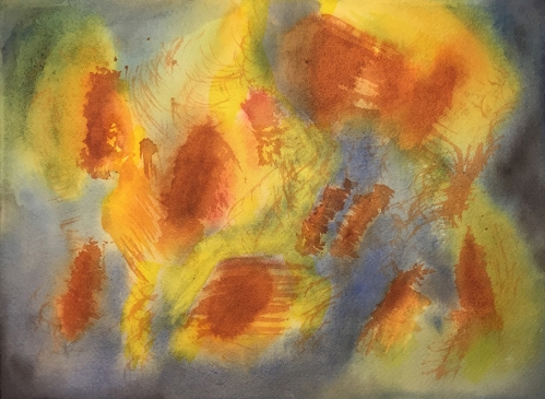 Watercolor: Abstract - Red Iron