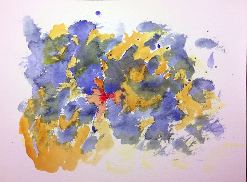 Watercolor: Abstract - Stabbing Brush Strokes