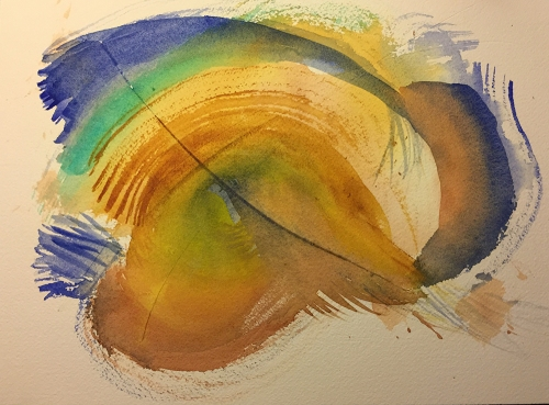 Watercolor: Abstract with Slashes