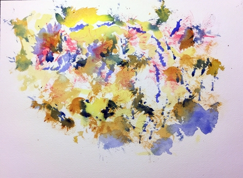 Watercolor: Abstract - Fireworks with Stabbing Brush Strokes