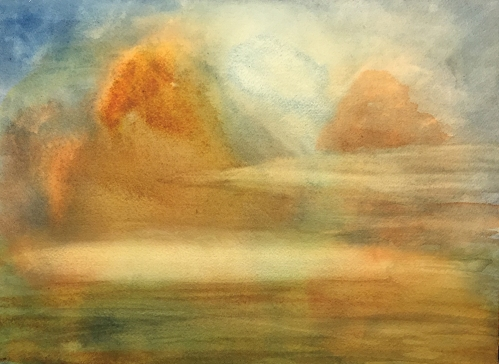 Watercolor: Abstract - Landscape