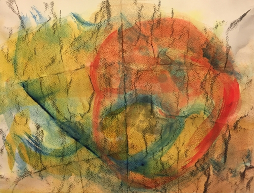 Watercolor: Abstract - Palimpsest
