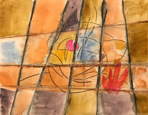 Watercolor: Abstract - Can't Escape the Past