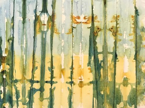 Watercolor: Abstract - Vertical and Horizontal (Hantaï)