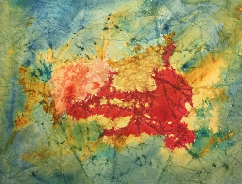 Watercolor: Abstract on Distressed 138# Mixed Media Paper 013117