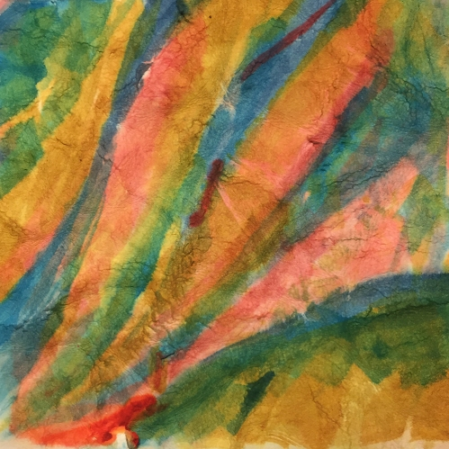 Watercolor: Abstract on Distressed 300# paper 013117