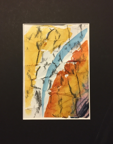 Watercolor: Abstract with Charcoal, Grid 1