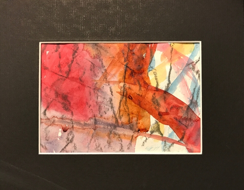 Watercolor: Abstract - Grid Painting in Position 5
