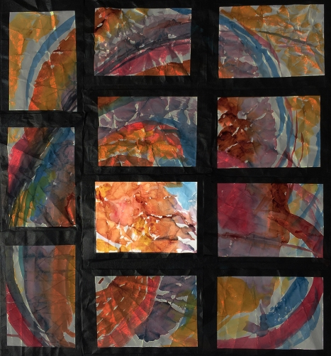 Highlighted #11 Position on Grid of 11 Watercolors