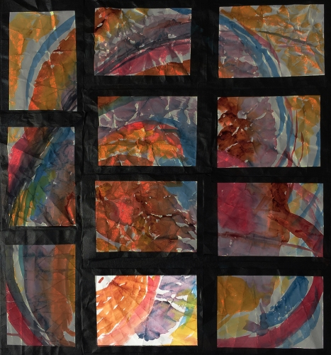 Highlighted #7 Position on Grid of 11 Watercolors