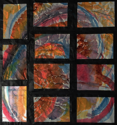 Highlighted #8 Position on Grid of 11 Watercolors