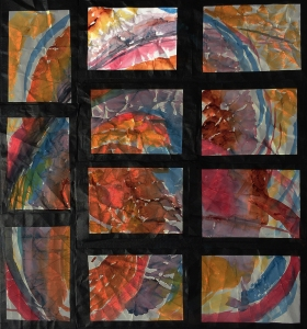 Highlighted #2 Position on Grid of 11 Watercolors