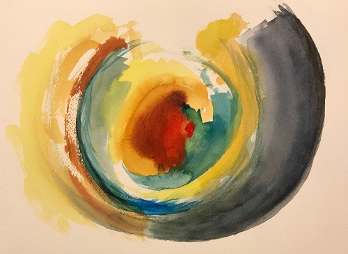 Watercolor: Abstract - Circular Pattern