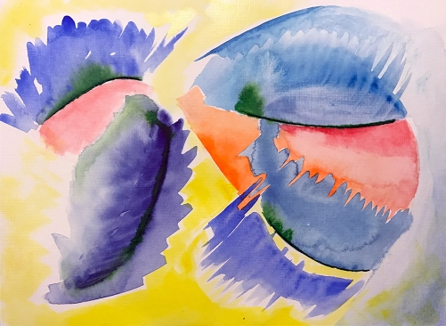 Watercolor: Abstract - The Wink