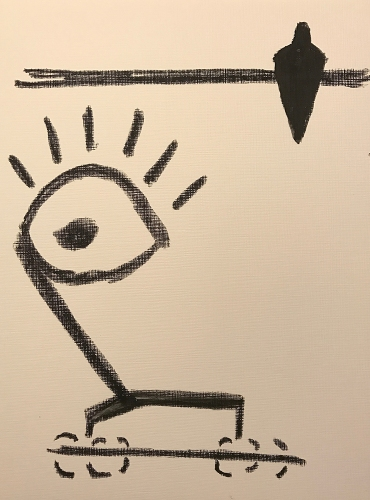 Watercolor Crayon: Line Drawing